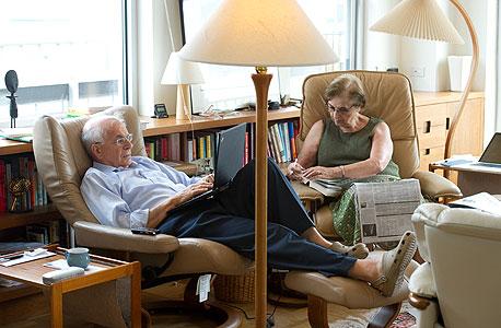 כהנמן ואשתו, הפסיכולוגית אן טריזמן, בביתם