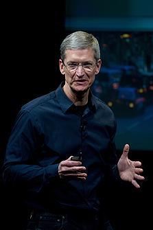 """מנכ""""ל אפל, טים קוק. רוצה להגביר את הנוכחות בסין"""