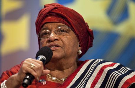 נשיאת ליבריה לשעבר, אלן ג'ונסון סִירלִיף