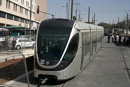 הרכבת הקלה בירושלים , צילום: עמית שאבי