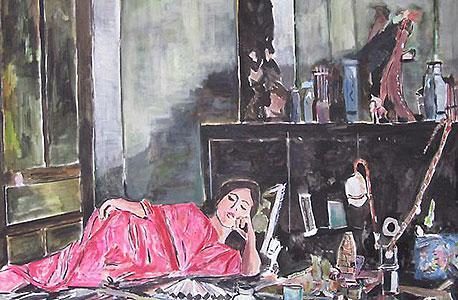 ציור של דילן מתוך התערוכה