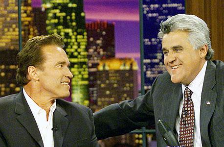 """The Tonight Show with Jay Leno"". אורח: ארנולד שוורצנגר. איפה: ברבנק, קליפורניה, צילום: בלומברג"