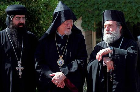 הפטריארך הארמני (במרכז)