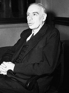 """ג'ון מיינרד קיינס, 1929: """"לשפל בוול סטריט לא תהיה השפעה רצינית על לונדון"""". כעבור זמן קצר בריטניה שקעה למשבר הכלכלי הגדול ביותר שידעה עד אז"""
