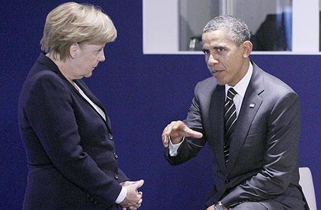אנגלה מרקל ברק אובמה, צילום: בלומברג