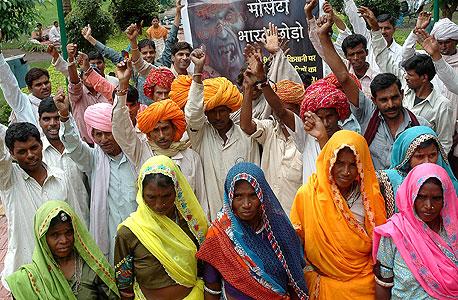 חקלאים מפגינים בהודו