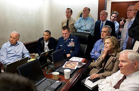 חדר מצב ארצות הברית חיסול אוסמה בן לאדן בין לאדן ברק אובמה הילארי קלינטון, צילום: בלומברג