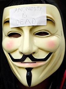 אנונימוס. אירופה נגד פשעי רשת, צילום: בלומברג
