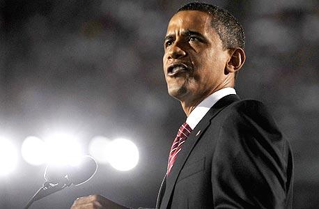 ברק אובמה בוועידה בדנבר, צילום: איי פי