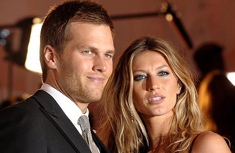 טום בריידי ואשתו ג