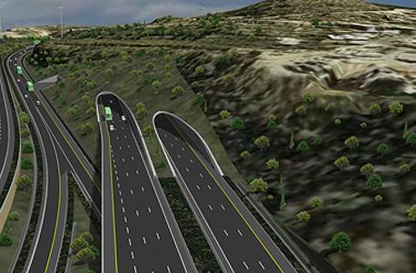 הדמיית מנהרות הראל, ביצוע שפיר הנדסה, באדיבות  דובר משרד התחבורה