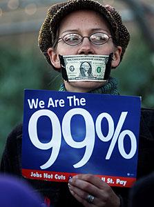 מחאת וול סטריט (ארכיון), צילום: רויטרס