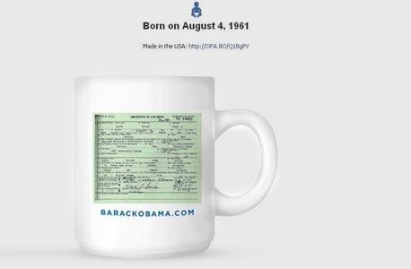 טיימליין ברק אובמה תעודת לידה צילום מסך, צילום מסך: Facebook