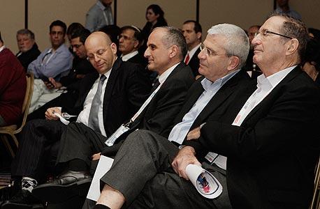 מימין לשמאל: דן פרופר, אלי יונס, דוד ברוך וקובי הבר , צילום: מיקי אלון