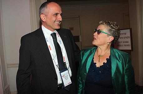 """חנה פריזן, משנה למנכ""""ל בנק הפועלים ודוד ברוך מנכ""""ל אקסלנס"""