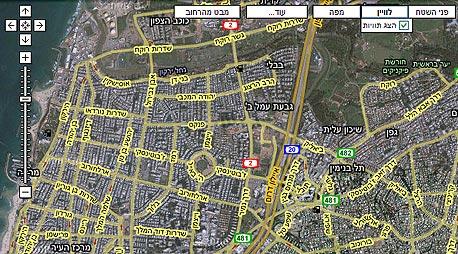 מפת תל אביב על פי גוגל