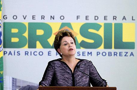 """דילמה רוסוף, נשיאת ברזיל. """"פיפ""""א חייבת לברזיל התנצלות, מכיוון שבמשך חודשים הם יצאו בהצהרות קשות ומגעילות, ועכשיו הם טוענים שהכל עבר בהצלחה"""",, צילום: רויטרס"""