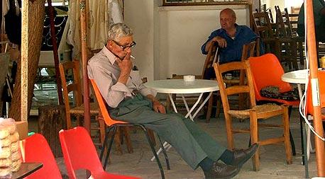 בית קפה בכפר הומודוס, קפריסין