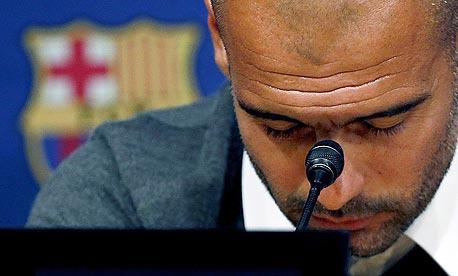 פפ בתקופתו בברצלונה. מאמן, נשיא ודובר, צילום: אי פי אי