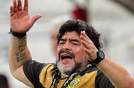 מראדונה כמאמן אל וואסל, צילום: אי פי אי