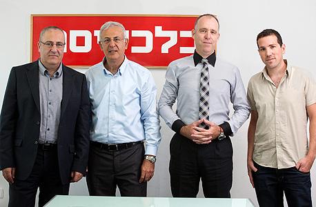 מימין: גיל גן-מור, שאול בן אמוץ, שוקי אמרני ואייל ממו