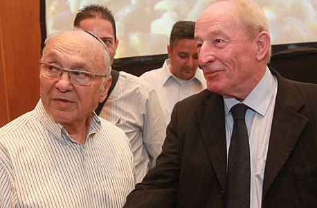 יהודה וינשטיין ויעקב נאמן בכנס באילת, צילום: יוסי זמיר