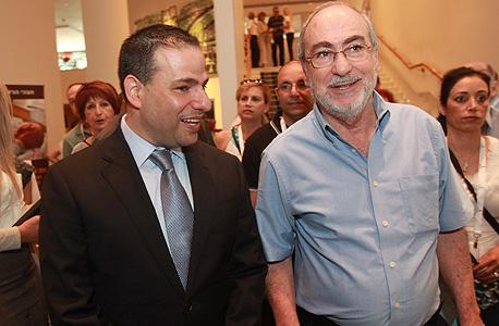 נשיא בית המשפט העליון אשר גרוניס וראש לשכת עורכי הדין דורון ברזילי בימים של ידידות