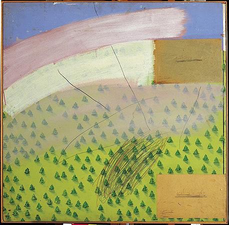 """עבודה של לביא עם הכיתוב שהופיע ברבות מיצירותיו, """"אילנה ורפי לביא"""""""
