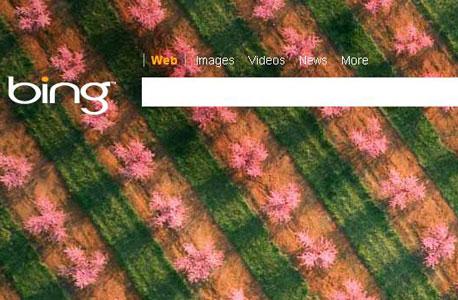 בינג של מיקרוסופט, צילום מסך: Bing