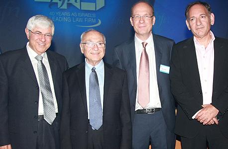 השותפים בהרצוג פוקס נאמן - אהוד סול, מאיר לינזן, יעקב נאמן וטוביה ארליך
