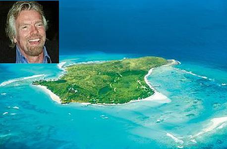 האי נקר שאליו עבר ברנסון