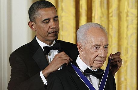 שמעון פרס עם הנשיא אובמה