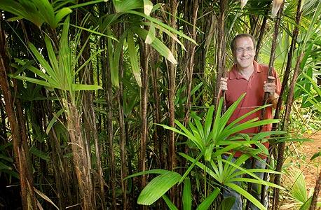 """חיימוביץ בגן הבוטני ברמת אביב. """"בגלל תיאוריות שרלטניות, מדענים שגילו קרבה אמיתית בין צמחים לבעלי חיים נרתעו מלפרסם זאת"""""""