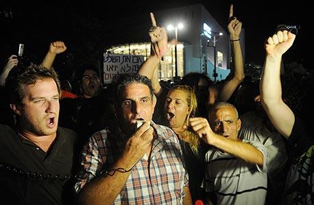המחאה בתל אביב , צילום: ירון ברנר, ynet