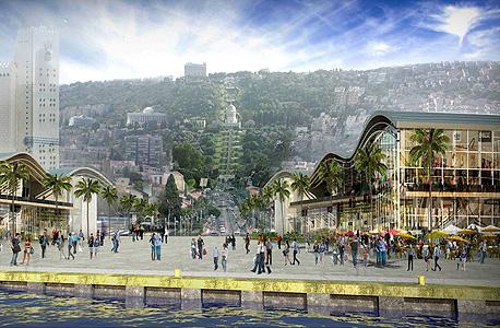 הדמיה של התוכנית ב נמל חיפה,  הדמיה: עמי שנער - אמיר מן אדריכלים