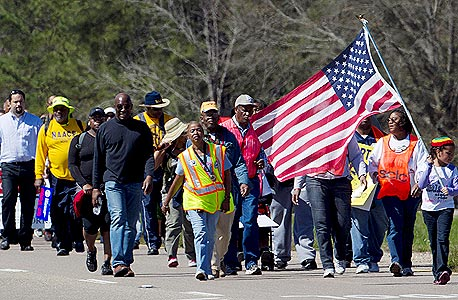 2012. משחזרים את הצעדה למונטגומרי כמחאה נגד חוקי ההצבעה החדשים