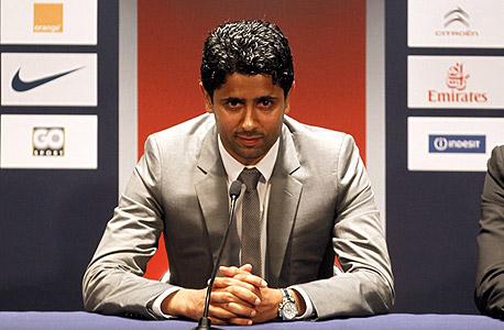 """נאסר אל חאלאפי, יו""""ר QSI, אומר ש""""המועדון יהיה רווחי בעוד חמש שנים"""", הכרזה - שאמורה """"להרגיע את אופ""""א"""", צילום: רויטרס"""