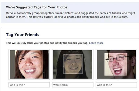 המלצות זיהוי פנים בפייסבוק, צילום: איי פי