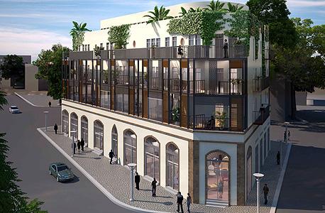 הדמיית המבנה ברחוב רבי חנינא ביפו