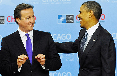 ברק אובמה דיויד קמרון, צילום: אי פי אי