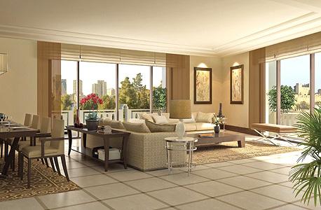 דירה לדוגמה במגדל הדירות