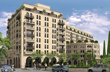 הדמיית מגדל הדירות בפרויקט וולדרוף אסטוריה ירושלים
