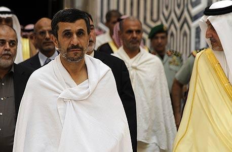 אחמדיניז'אד נשיא איראן בביקור סעודיה