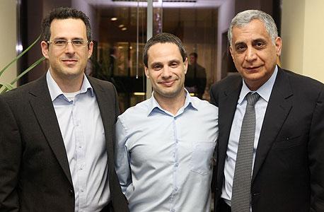 מימין: פיני כהן, רן שלח וגיל־עד בושביץ'