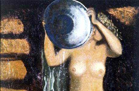 """הציור """"אמבט"""". ציור של סרגיי רפין. """"שיא הלבלוב"""""""
