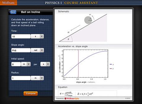 אפליקציית Wolfram Alpha Physics II לאייפד