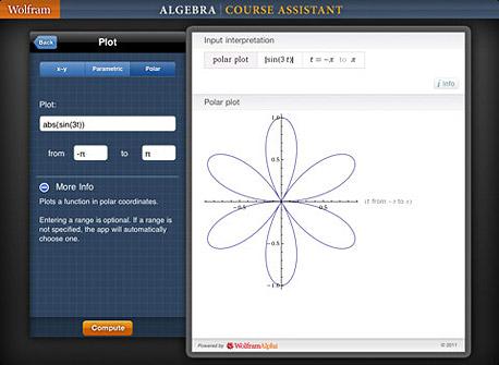 אפליקציית Wolfram Alpha Algera לאייפד