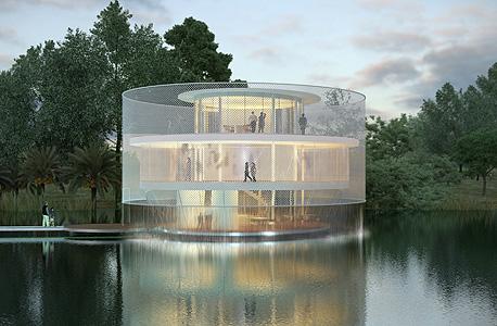 מרכז החלל. אדריכלות: פיצו קדם אדריכלים. הדמיה: סטודיו בונסאי