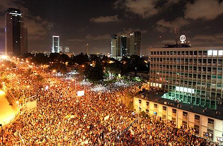 """הפגנת הרבע מיליון בקריה, באוגוסט שעבר. """"הכעס לא תורגם למעשים, והאליטות עשו לו מניפולציות"""", צילום: עמית שעל"""