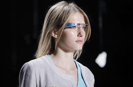 משקפי גוגל בתצוגת אופנה בניו יורק, צילום: איי פי